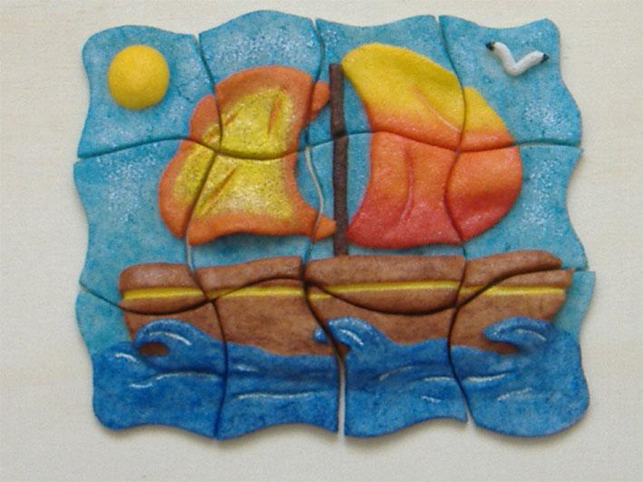 Univers Deco Objets Decoratifs En Pate A Sel Peinture Pyrogravure Gravure Sur Verre Et Serviettes Collees